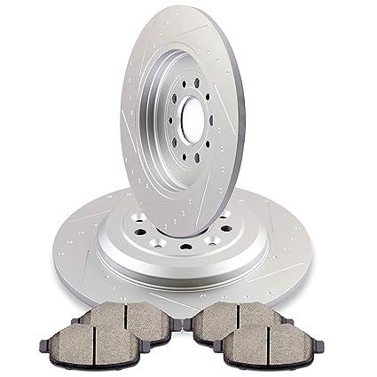 Automuto Brakes And Rotors Kits Pcs Rear Brake Rotors And Pcs Ceramic Pads Fit For