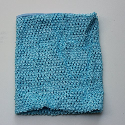 Light Blue Crochet Tutu Top Lined 12 Inches X 10 Inches Elastic