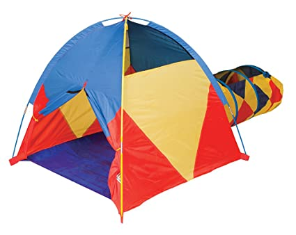 official photos 4e454 ed786 Pacific Play Tents 29417 Kids Find Me A La Mode Dome Tent & Crawl Tunnel  Combo for Indoor / Outdoor Fun