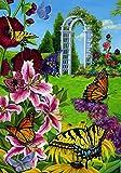 Home Garden Flag Best Deals - Toland Home Garden 102085 Butterflies in The Garden 28 X 40