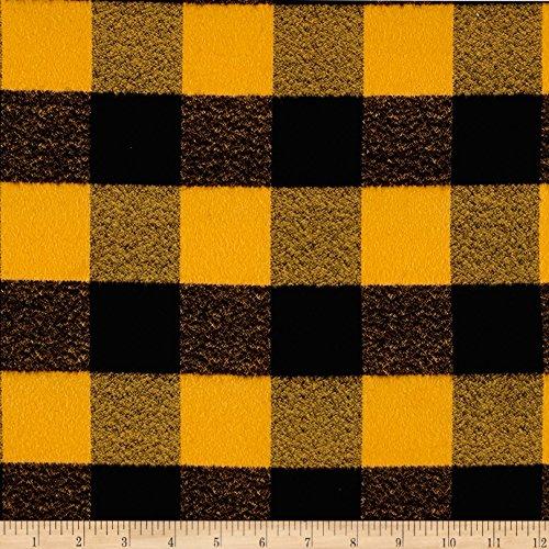 Robert Kaufman Kaufman Mammoth Flannel Buffalo Check Large Yellow Fabric by The ()