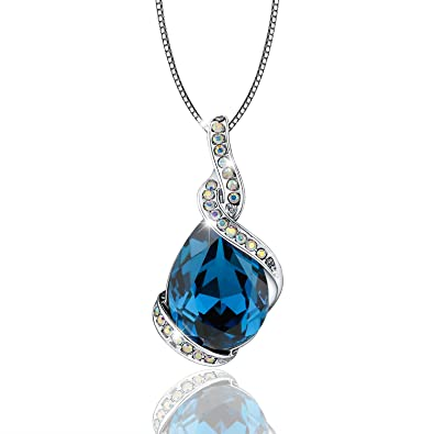 Amazon osiana ocean star drop tear swarovski crystal pendant osiana ocean star drop tear swarovski crystal pendant necklace fashion jewelry gifts for women aloadofball Image collections