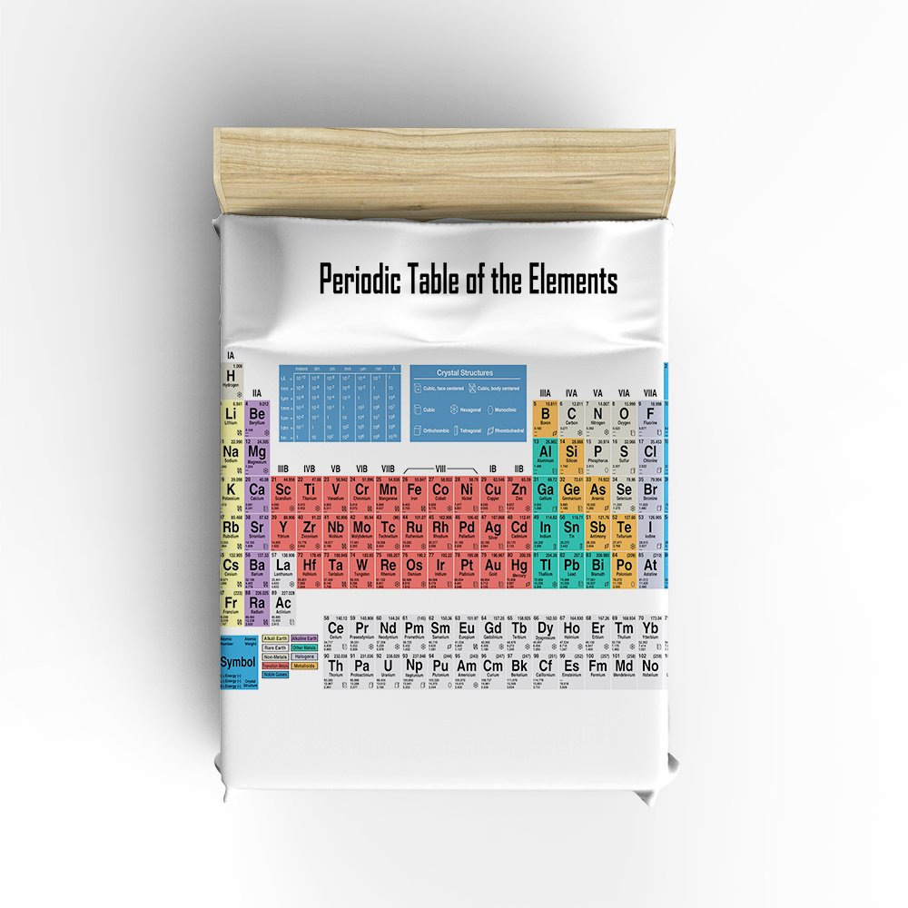 Amazon libaoge 4 piece bed sheets set periodic table of the amazon libaoge 4 piece bed sheets set periodic table of the elements 1 flat sheet 1 duvet cover and 2 pillow cases home kitchen gamestrikefo Images