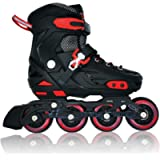 Lucky-M Pink/Blue/Black Children's Adjustable Inline Skates. Stunt Flat Roller Skates, Children's Fun Roller Skates…