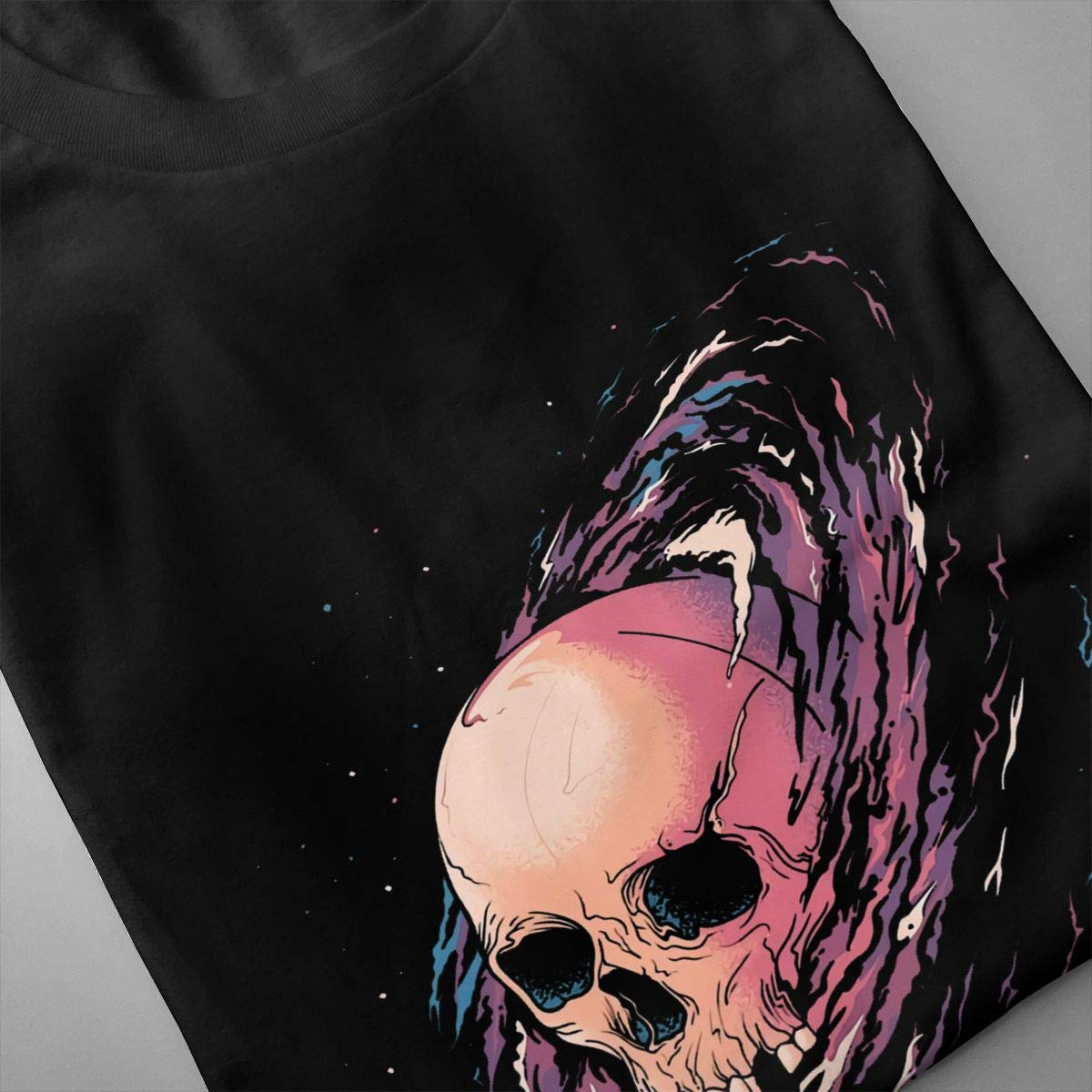 ONSSSNO Cosmic Death,Funny and Cool Mens Short-Sleeved T-Shirt Black