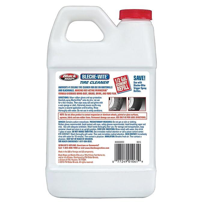 Amazon.com: Black Magic 800002223 Bleche-Wite Tire Cleaner, 64 oz.: Automotive