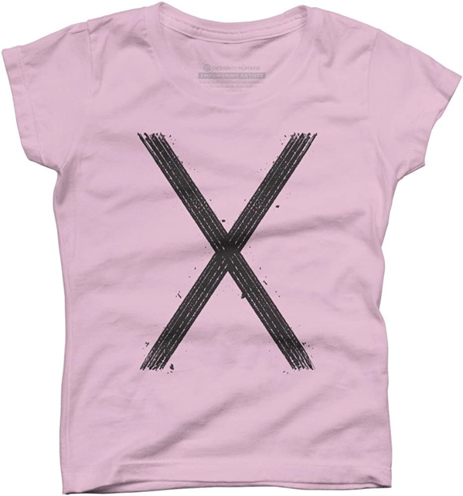 Design By Humans PLACE X Girls Youth Graphic T Shirt