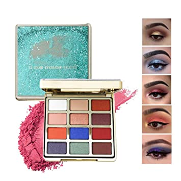 6dde8a91d1b3 ARTIFUN Professional Eyeshadow Palette Makeup - Matte Shimmer 12 Colors -  Highly Pigmented -...