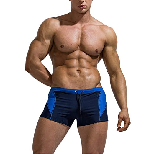 3a8e9cd60f F_Gotal Men's Swim Trunks Quick Dry Cotton Breathable Bulge Briefs Swimming  Shorts Summer Beach Swimwear Bathing