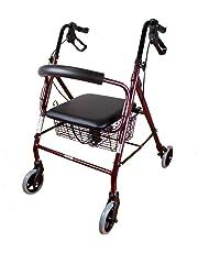 Mobiclinic Andador para Ancianos de 4 Ruedas | Incluye Cesta | Peso máximo soportado 120 kg | Modelo Escorial