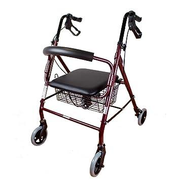 Mobiclinic Andador para Ancianos de 4 Ruedas | Incluye Cesta | Peso máximo soportado 120 kg | Modelo Escorial: Amazon.es: Salud y cuidado personal