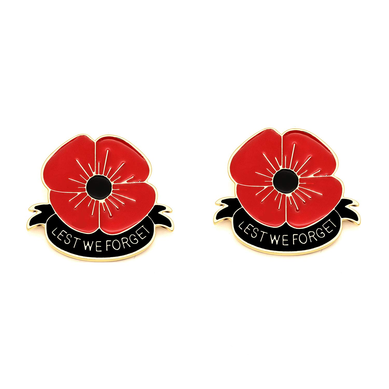 Amazon Niceter 2 Pack Lest We Forget Red Poppy Flower Brooch
