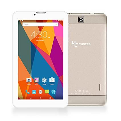 YUNTAB New E706-3G Tablet de 7 Pulgadas Aleación Metal atrás (1,3GHZ Quad-Core, 8GB, Resolución HD de 1024x600, Google Android 6.0, Dual SIM, 3G+WiFi, ...