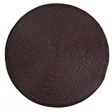 Flipped Round Place Mats Woven Table Mats Set of 6 for Indoor/Outdoor Dining,Parties and Kitchen Everyday Use (coffee) Review