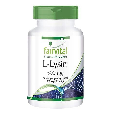 L-lisina 500mg - GRANEL durante 3 meses - alta dosis - 100 cápsulas -