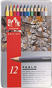 Caran D'ache 12 Color Pablo Set (666.312)
