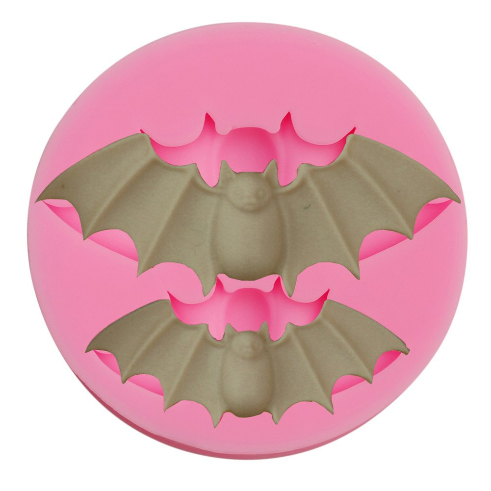 Gluckliy Bat Shape Silicone Mould Fondant Sugarcraft Cake Decorating Tools Kitchen Accessories Bakeware Baking Accessories fangqiang