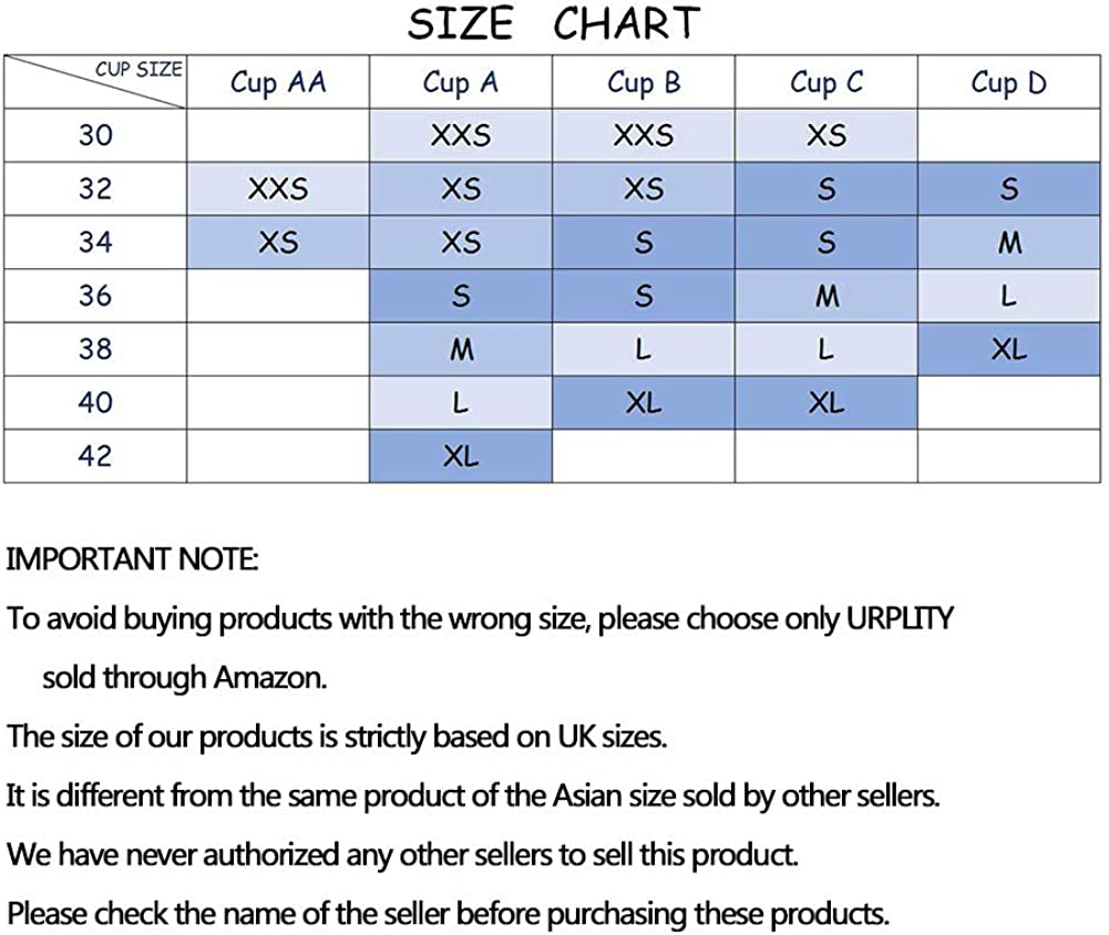 URPLITY Womens Seamless Sports Bra Yoga Bra Padded Cotton High Impact Push Up Support Pullover Breathable Comfy Sport Camisole U Plunge Bra