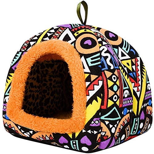 Vedem Guinea-Pigs Warm Cave Bed Small Animals Igloo House Hanging Play Cube (Igloo-Purple)
