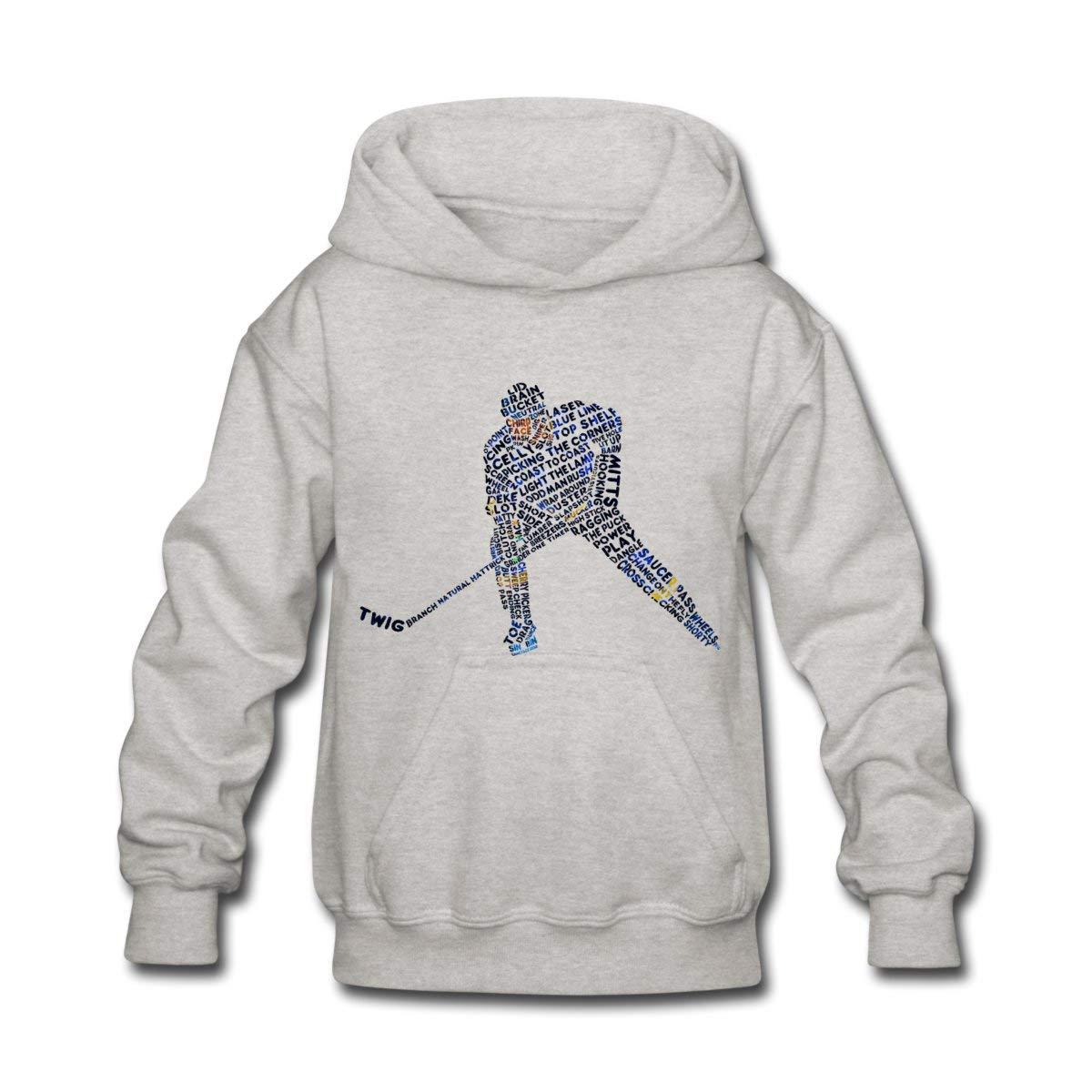 Spreadshirt Hockey Player Language Typography Kids' Hoodie