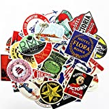 GUAngqi 55 PCS Retro Stickers Nostalgic Hotel Stickers Waterproof Suitcase Luggage Stickers