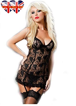 973e09e66ac Luv To Buy Ltd Classical Sexy Baby Doll Sexy Underwear, Set Lingerie, Set  Nightwear, Quality (XL): Amazon.co.uk: Clothing