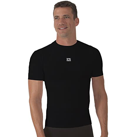 Zensah Seamless Short Sleeve Compression Shirt - Black L/XL
