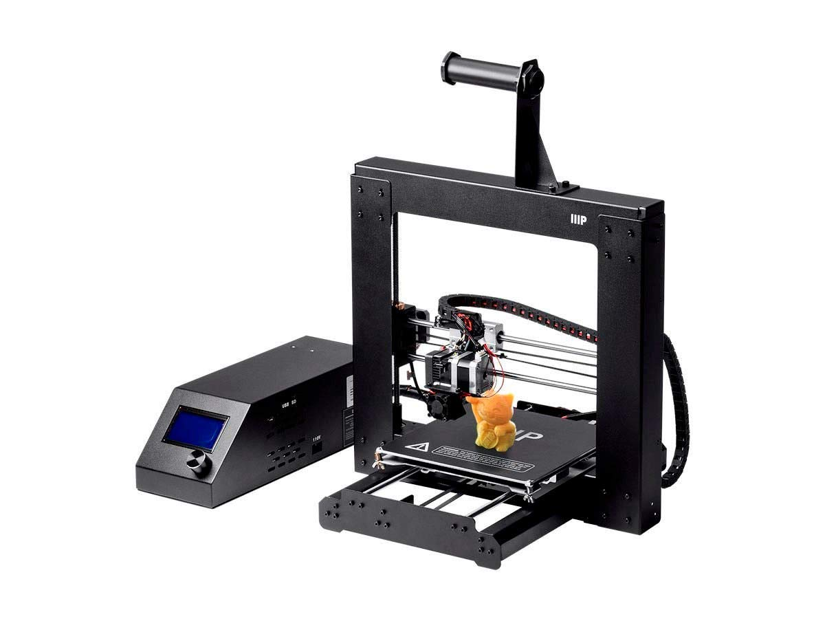 Monoprice Maker Select 3D Printer v2 With Large Heated (200 x 200 x180 mm)  Build Plate + Free Sample PLA Filament And MicroSD Card Preloaded With