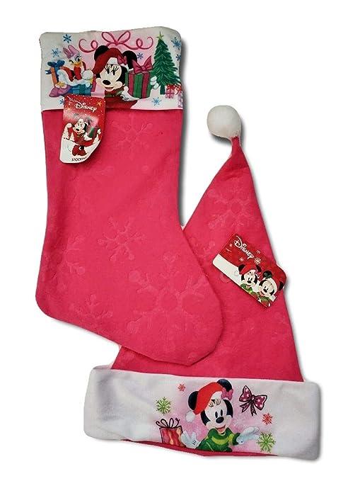 Pink Christmas Stocking.Amazon Com Disney Minnie Mouse Pink Christmas Stocking