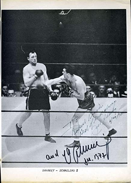b2dfcd66c1c JACK SHARKEY MAX SCHMELING COA Autographed 8x10 Photo Authentic Signed -  JSA Certified - Autographed Boxing Photos at Amazon s Sports Collectibles  Store