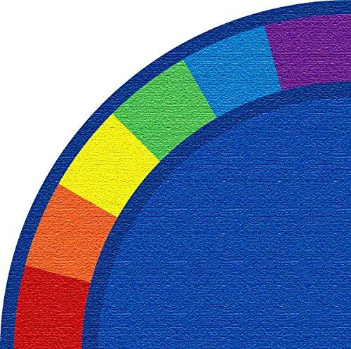 Best Nylon Carpet - Kid Carpet FE82126A Colors Corner Quarter Circle Nylon Area Rug 6' x 6' Multicolored