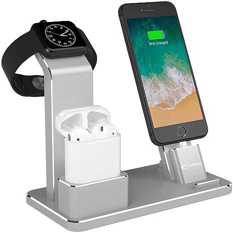 YFW Aluminium 4 in 1 Airpods Zubehör Apple Watch Ständer iPhone ...