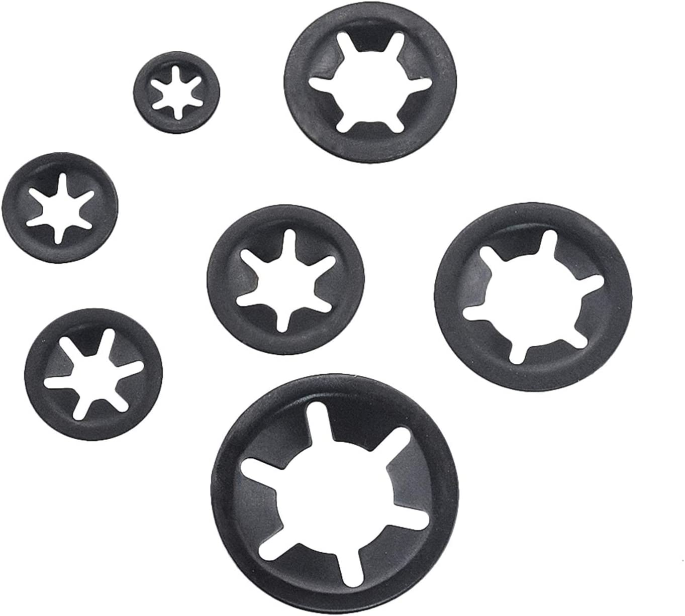 DShanLa 260PCS//Box M3-12 Set Manganese Steel Push On Washer Retaining Lock Internal Tooth Star Lock Washers Set Fasteners Assortment Kit DShanLa