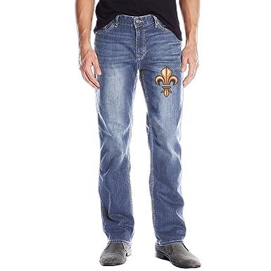 0057209b KYn OJ Men Relaxed Straight Fit Fleur De LYS Jeans RoyalBlue at ...