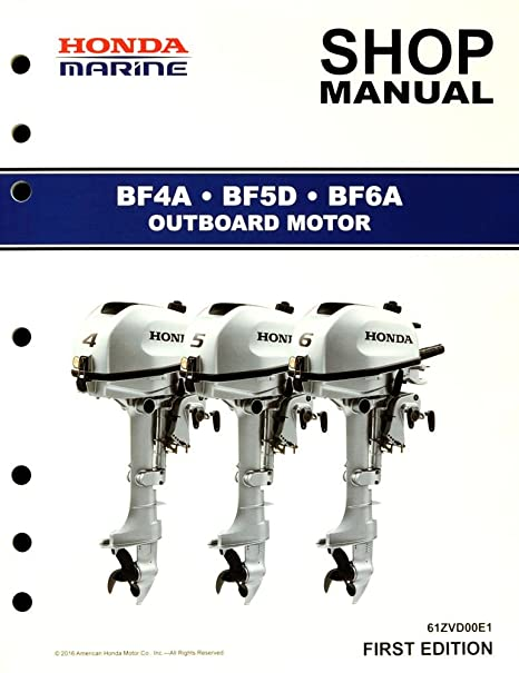 amazon com honda bf4 bf5 bf6 marine outboard service repair shop rh amazon com  honda bf5a service manual