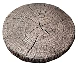 Fennco Styles 3D Wood Print Creative Pillow Seat Cushion, Many Uses, 15'' Round-4 Designs (Style 3)