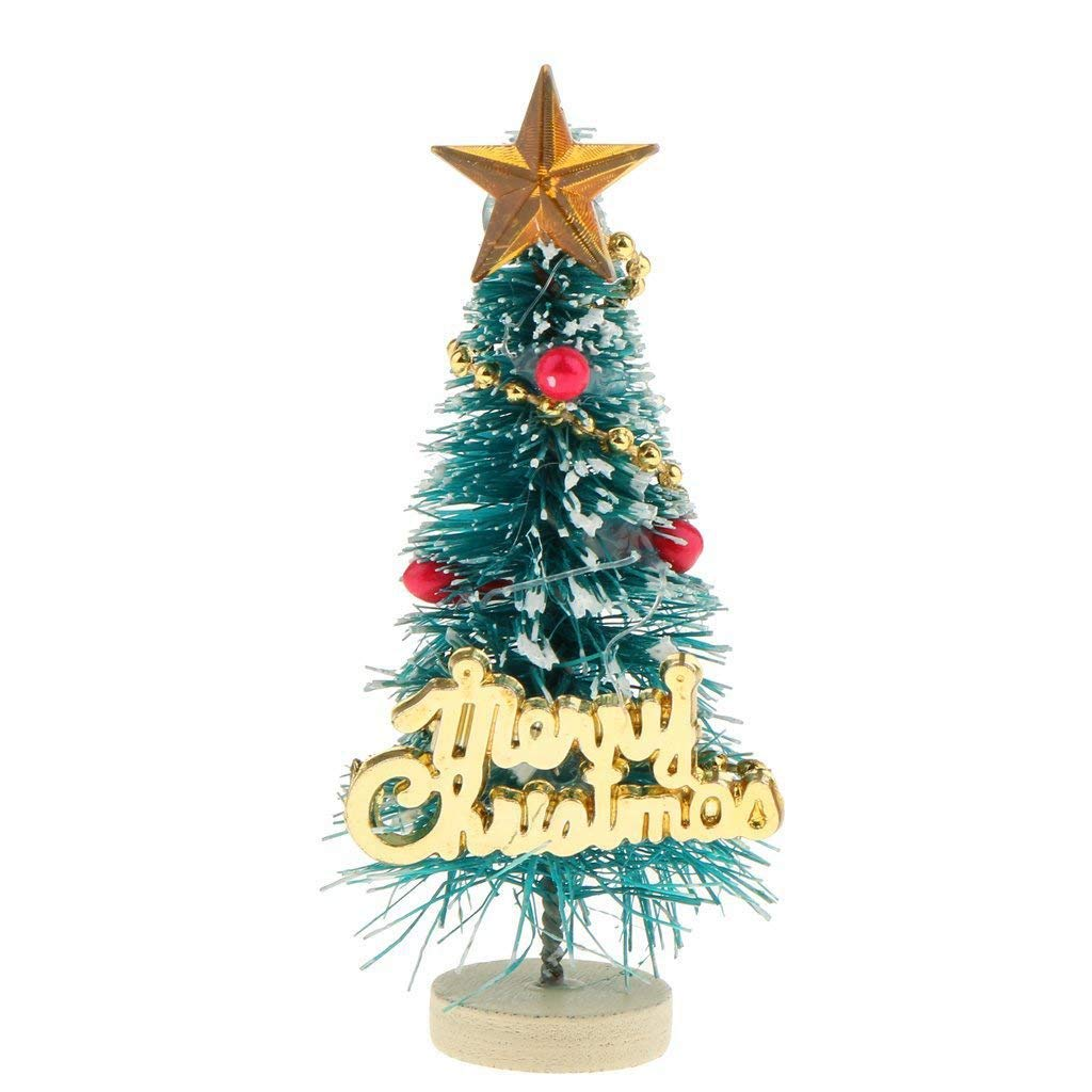 SODIAL 1: 12 Dollhouse Miniature Christmas Tree Merry Christmas Letters Board Wooden Stand Decoration 168250
