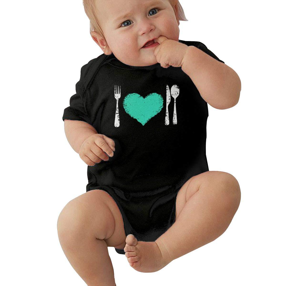 LBJQ9 My Boyfriend is Vegan Newborn Baby Girl Infant Organic Cotton Short Sleeve Jumpsuit Overall Romper