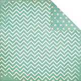 Bobunny Double Dot Chevron Double-Sided Cardstock 12''X12''-Island Mist