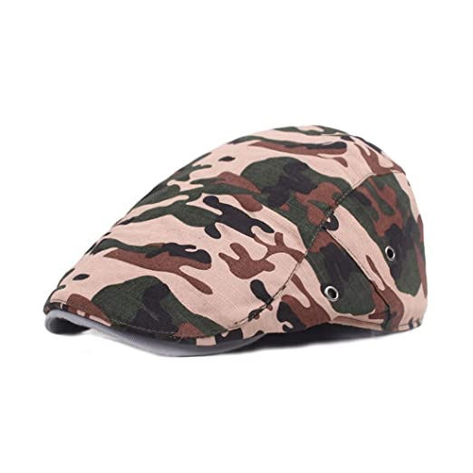 743ae55ac8b King Star Cotton Flat Cap Camouflage Duckbill Hat Newsboy Ivy Irish Cabbie  Scally Caps Style 2