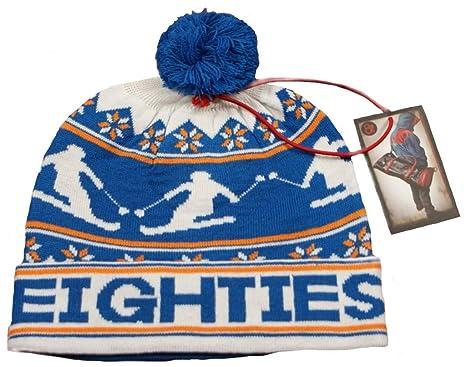 80S Casuals Monte Bobble Ski Hat Beanie Casual Classics Royal Blue Orange 4b6aaa0dd4f