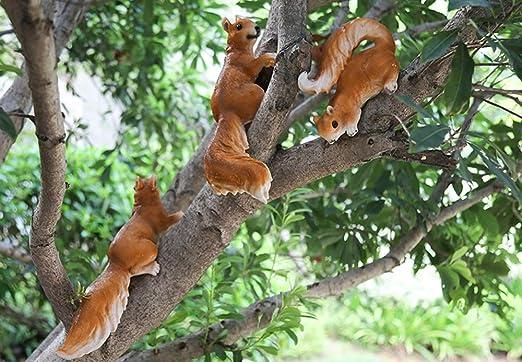 LYQZ Animal Little Squirrel Patio del jardín Decoración jardín de ...