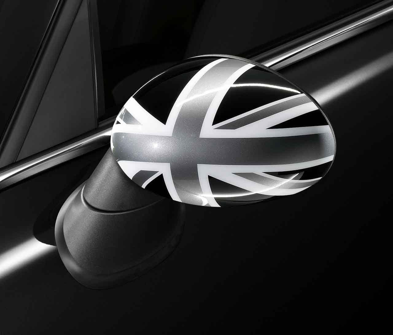 Mini 51162147676 Außenspiegelkappe Union Jack Uk Britische Flagge Schwarz Auto