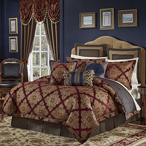 4 Piece Multi Medallion Comforter King Set, For Modern Ma...