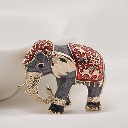 kercisbeauty elefante broche Pin de collar boho Old Fashion ...
