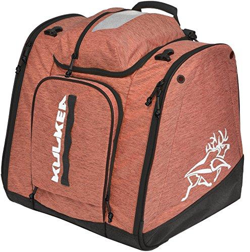 Kulkea Powder Trekker 52L Ski Boot Bag - Coral/White/Natural