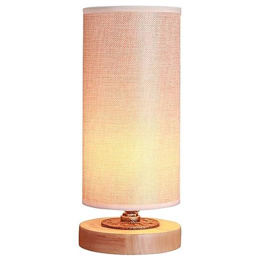Lámparas de Escritorio Lámpara de mesa de madera sólida simple ...