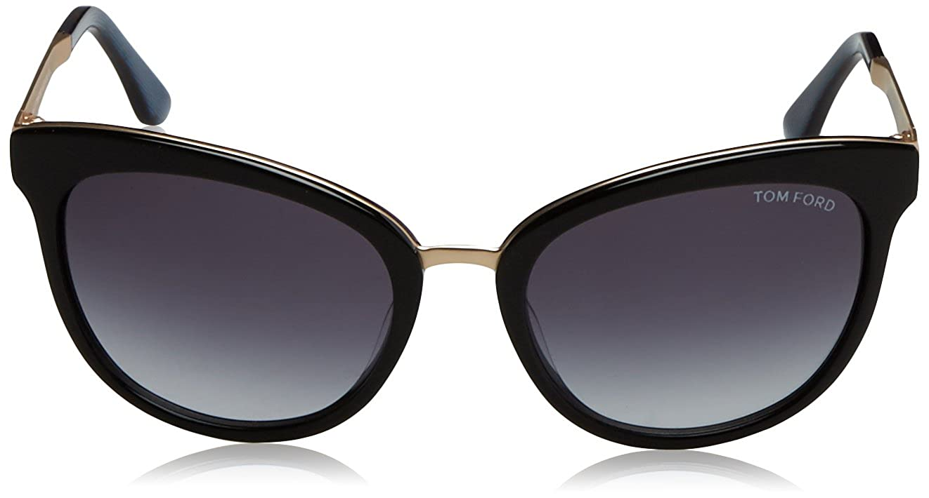 6429a68d70b Amazon.com  Tom Ford TF461 05W Black Blue Emma Cats Eyes Sunglasses Lens  Category 3 Size  Tom Ford  Clothing