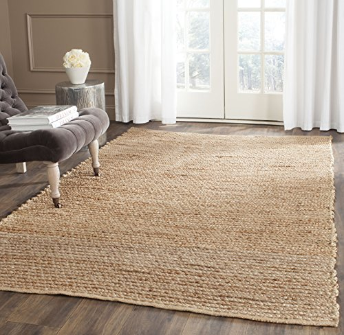 Safavieh Cape Cod Collection CAP355A Hand Woven Flatweave Natural Jute Area Rug (4' x 6')