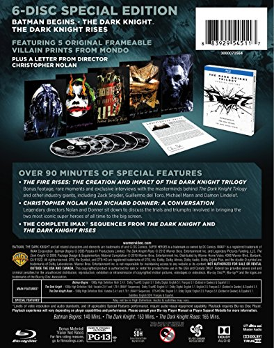 The Dark Knight Trilogy (Special Edition) (BD) [Blu-ray]